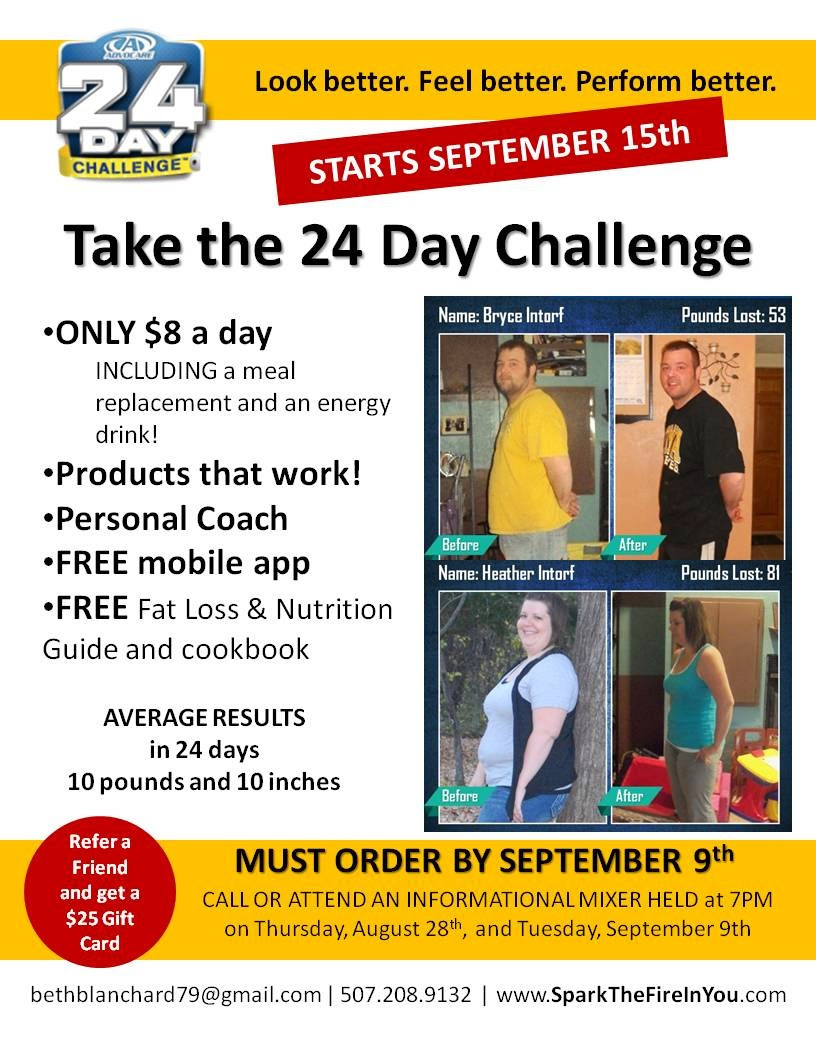 Take The Advocare 24 Day Challenge Look Perform And Feel Better